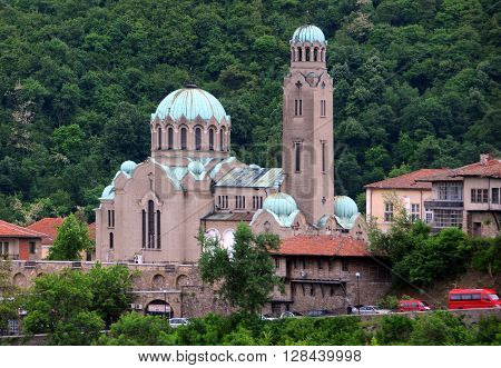 VELIKO TARNOVO BULGARIA - APRIL 29 2016: Cathedral of the Birth of Holy Mother