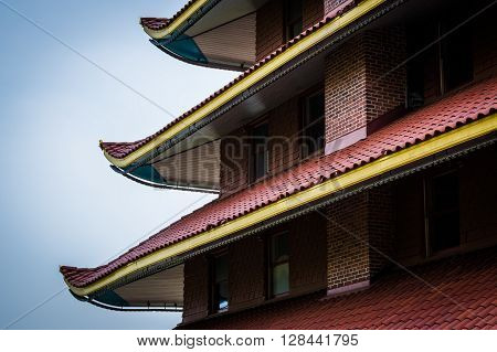 Architectural Details Of The Pagoda On Skyline Drive, In Reading, Pennsylvania.
