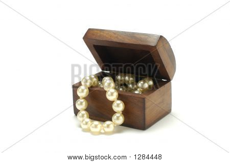 Antique Box With Pearls