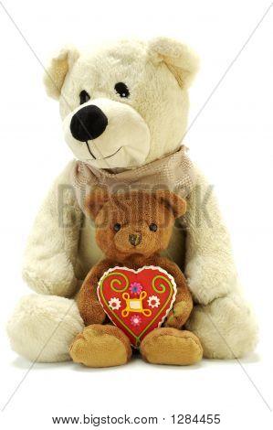Two Teddy Bears With Sweet Heart