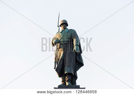 Russian Soldier Statue