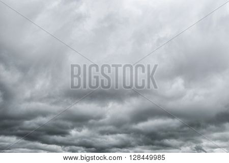 Dramatic sky -Grey storm clouds