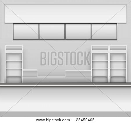 Grocery Store Bar Cafe Beer Cafeteria Fast Food Counter Desk Interior Exterior Showcase