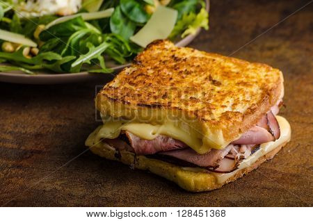 French Cheese Meat Toast