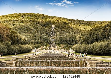CASERTA - DECEMBER 7: the beautiful fountain in the Royal Palace garden on December 7, 2014 in Caserta, Italy