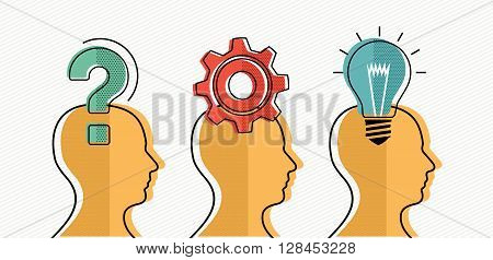 Group Development Of Business Ideas Concept Design