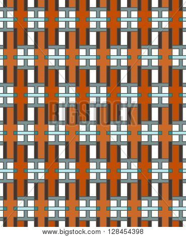 Geometric Abstract Seamless Pattern. Linear Motif Background Decoration Design