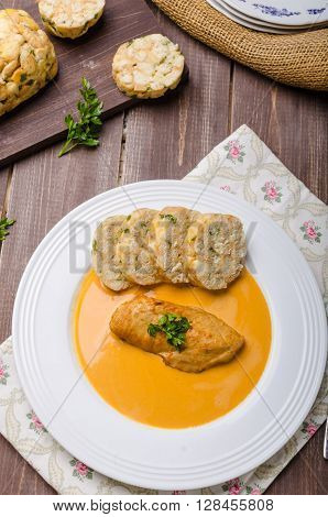 Chicken On Cream With Pepper Season