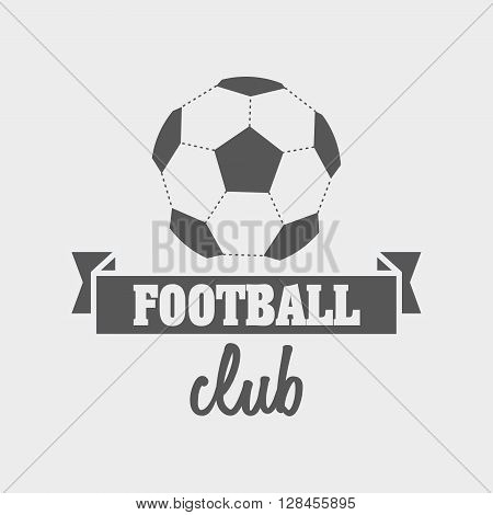 Football Or Soccer Club Logo Template With Ball On White Background