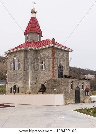 Varvarovka, Russia - March 15, 2016: The Old Church In The Village Of Great Martyr Barbara Varvarovk