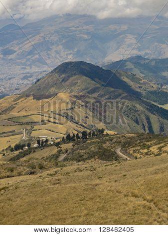Mountains Landscape Quito Ecuador