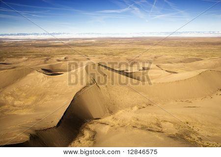 Paisagem de grandes dunas de areia National Park, em Colorado, EUA.