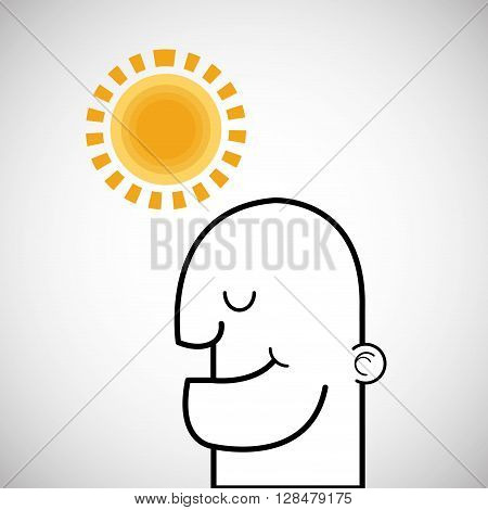 Creative mind concept with icon design, vector illustration 10 eps graphic.