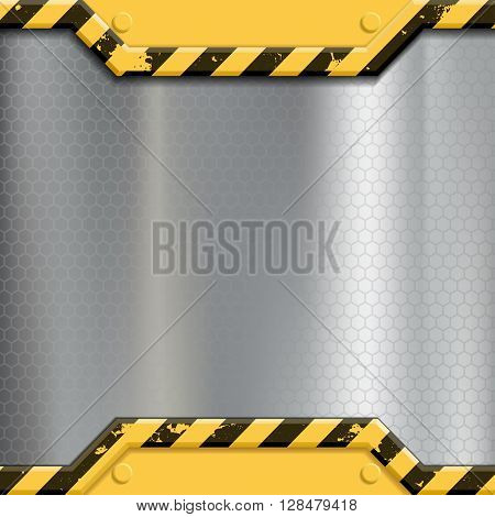 Industrial metal background. Construction machinery. Stock vector illustration.
