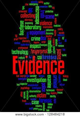 Evidence, Word Cloud Concept 9