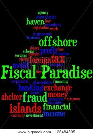 Fiscal Paradise, Word Cloud Concept 10