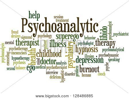 Psychoanalytic, Word Cloud Concept 9