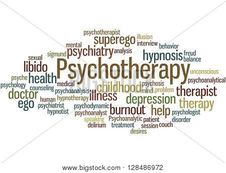 Psychotherapy, Word Cloud Concept 8