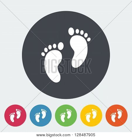 Foot icon icon. Flat vector related icon for web and mobile applications. It can be used as - logo, pictogram, icon, infographic element. Vector Illustration.
