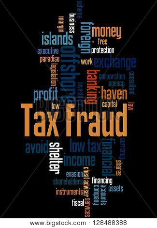 Tax Fraud, Word Cloud Concept 6