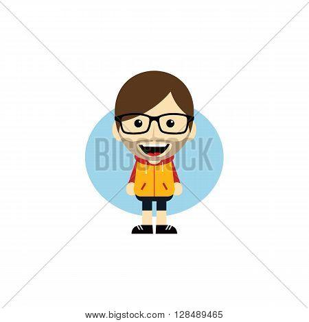 Geek Cartoon Nerd Character