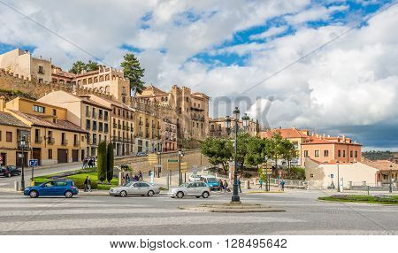 SEGOVIA,SPAIN - APRIL 22,2016 - Segovia is a city in the autonomous region of Castile and Leon in Spain. It is the capital of Segovia Province.