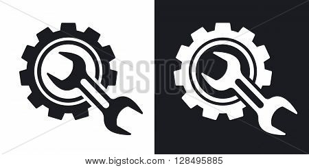 Service icon stock vector. Two-tone version on black and white background
