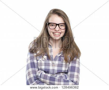 Laughing Teen Girl..