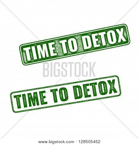 Time To Detox Rubber Stamp Isolated On White