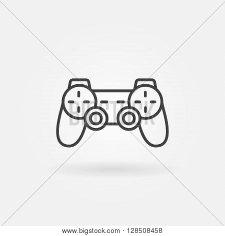 Game controller icon - vector linear wireless console joystick symbol or logo element