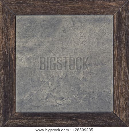 grunge canvas with wood frame background or texture