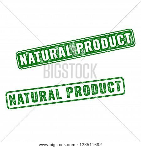 Realistic Vector Natural Product Rubber Stamp