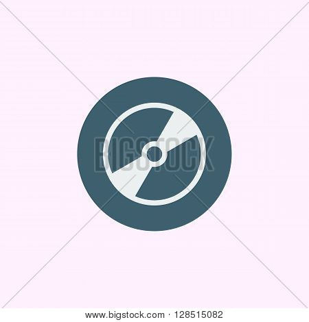 Cd Icon In Vector Format. Premium Quality Cd Symbol. Web Graphic Cd Sign On Blue Circle Background.