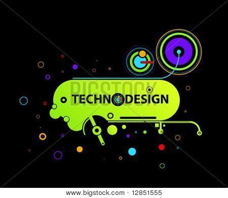 Abstract hi-tech illustration for design.