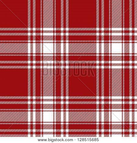 Menzies tartan red kilt skirt fabric texture seamless pattern.Vector illustration. EPS 10. No transparency. No gradients.