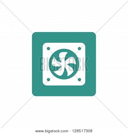 Fan Icon In Vector Format. Premium Quality Fan Symbol. Web Graphic Fan Sign On Green Background.