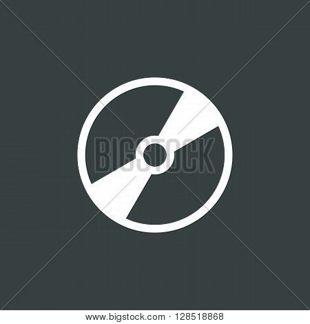 Cd Icon In Vector Format. Premium Quality Cd Symbol. Web Graphic Cd Sign On Dark Background.