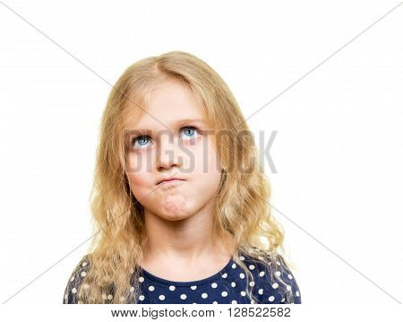Portrait Of Displeased Young Blonde Girl