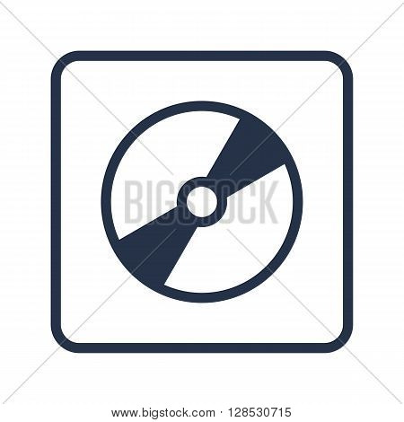 Cd Icon In Vector Format. Premium Quality Cd Symbol. Web Graphic Cd Sign On Blue Round Background.