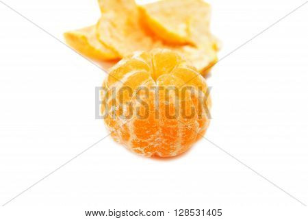 A Whole Peeled Tangerine Ready to Eat