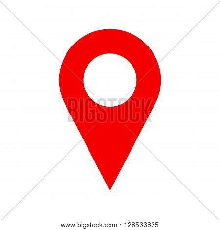 Vector pinpoint icon isolated on white background. Pinpoint symbol. Pinpoint sign. Pinpoint icon for website gps navigator apps business card. Pinpoint icon for web and print. Vector flat web icon.