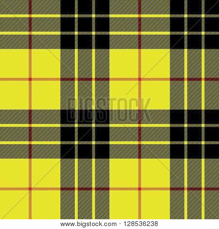 Macleod tartan kilt fabric texture plaid seamless pattern.Vector illustration. EPS 10. No transparency. No gradients.