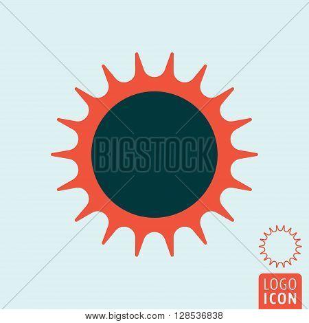 Sun icon. Abstract sun symbol. Vector illustration
