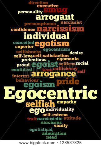 Egocentric, Word Cloud Concept 6