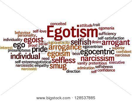 Egotism, Word Cloud Concept