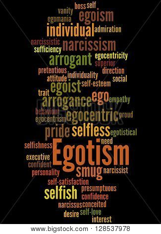 Egotism, Word Cloud Concept 6