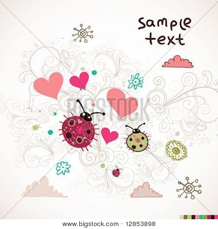Abstract valentine background fore design.