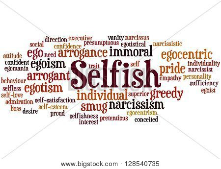 Selfish, Word Cloud Concept 7