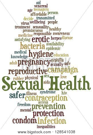 Sexual Health, Word Cloud Concept 11