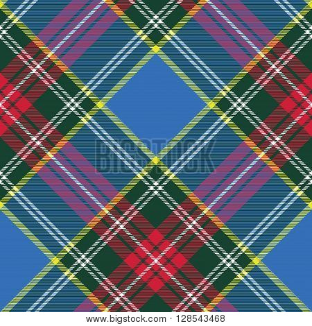 macbeth tartan kilt fabric textile diagonal pattern seamless.Vector illustration. EPS 10. No transparency. No gradients.